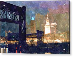 Colorful Cleveland Acrylic Print
