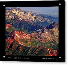 Colorful Colorado Rocky Mountains Planet Art Poster  Acrylic Print by James BO  Insogna