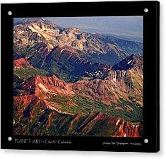 Colorful Colorado Rocky Mountains Planet Art Poster  Acrylic Print