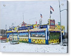 Colorful Coney Island Stand Acrylic Print by Andrew Kazmierski