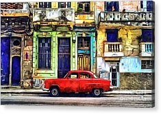 Acrylic Print featuring the painting Colorful Cuba by Edward Fielding