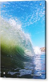 Colorful Curl Acrylic Print by Paul Topp