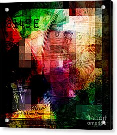 Acrylic Print featuring the photograph Colorful Currency Collage by Phil Perkins
