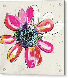 Acrylic Print featuring the mixed media Colorful Daisy- Art By Linda Woods by Linda Woods