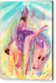 Colorful Dance Acrylic Print by John YATO