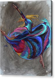 Colorful Dancer Acrylic Print