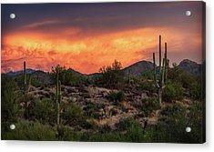 Acrylic Print featuring the photograph Colorful Desert Skies At Sunset  by Saija Lehtonen