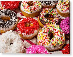Colorful Donuts Acrylic Print by Garry Gay