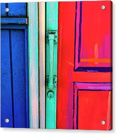 Colorful Doors Real And Otherwise Acrylic Print