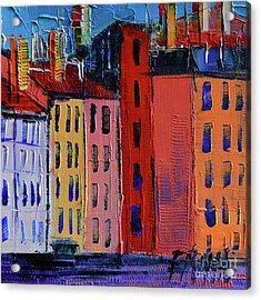 Colorful Facades Acrylic Print by Mona Edulesco