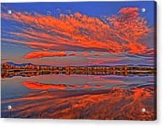 Acrylic Print featuring the photograph Colorful Fall Morning by Scott Mahon