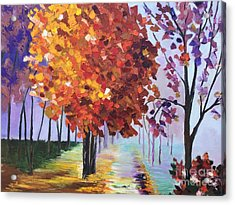 Colorful Fall Acrylic Print by Viktoriya Sirris