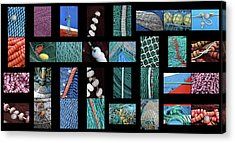 Acrylic Print featuring the photograph Colorful Fishing Nets by Frank Tschakert