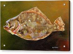 Colorful Flounder Acrylic Print