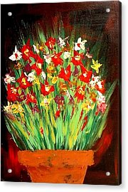 Colorful Flowers Acrylic Print by Teo Alfonso