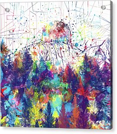 Colorful Forest 2 Acrylic Print