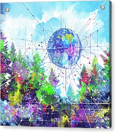 Colorful Forest 3 Acrylic Print by Bekim Art