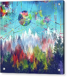 Colorful Forest 4 Acrylic Print