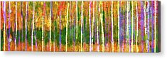 Colorful Forest Abstract Acrylic Print