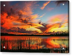 Colorful Fort Pierce Sunset Acrylic Print