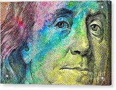 Colorful Franklin Acrylic Print