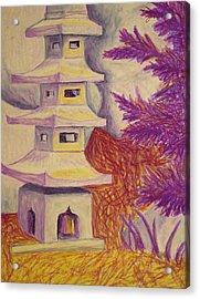 Colorful Garden Acrylic Print by Jean Haynes