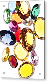 Colorful Gems Acrylic Print