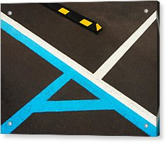 Colorful Geometry In The Parking Lot Acrylic Print