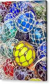 Colorful Glass Balls Acrylic Print by Carla Parris