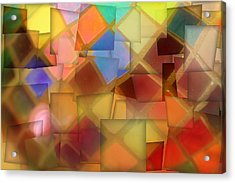 Colorful Glass Cubes Acrylic Print