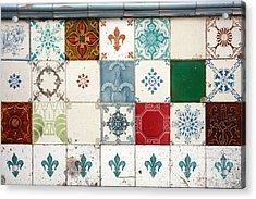Colorful Glazed Tiles Acrylic Print by Gaspar Avila