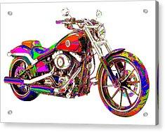 Colorful Harley-davidson Breakout Acrylic Print