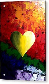 Colorful Heart Valentine Valentine's Day Acrylic Print by Teo Alfonso