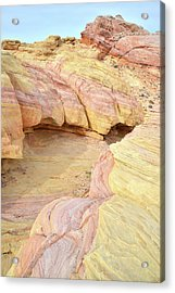Acrylic Print featuring the photograph Colorful Hilltop In Valley Of Fire by Ray Mathis