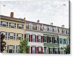 Colorful Historic Row Houses Acrylic Print