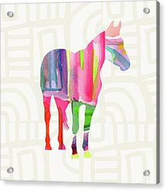 Colorful Horse 2- Art By Linda Woods Acrylic Print by Linda Woods