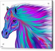 Colorful Horse Acrylic Print