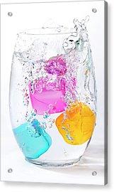 Colorful Ice Acrylic Print