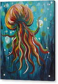Colorful Jellyfish Acrylic Print