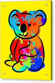 Colorful Koala Acrylic Print by Chris Butler
