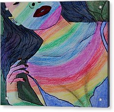 Colorful Lady Acrylic Print