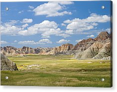 Colorful Landscape In Badlands National Acrylic Print by Philippe Widling