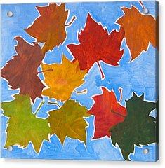 Colorful Leaves Acrylic Print by Vitali Komarov