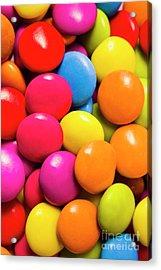 Colorful Lollies Macro Photography Acrylic Print