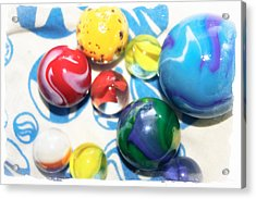 Colorful Marbles Acrylic Print by Colleen Kammerer