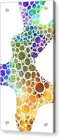 Colorful Modern Art - Colorforms 8 - Sharon Cummings Acrylic Print by Sharon Cummings