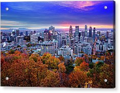 Acrylic Print featuring the photograph Colorful Montreal  by Mircea Costina Photography