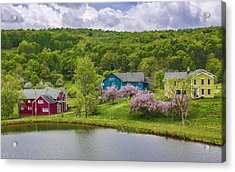 Acrylic Print featuring the photograph Colorful Mountain Homes by Paula Porterfield-Izzo