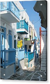 Acrylic Print featuring the photograph Colorful Mykonos by Carla Parris