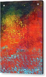 Acrylic Print featuring the painting Colorful Night by Nancy Merkle